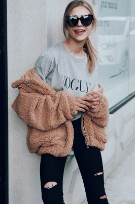 Going out Basic Regular Faux Fur Coat| Solid Colored Stand Long Sleeve Faux Fur White / Brown / Black_28