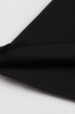 Vestido blanco y negro con cuello redondo y manga esencial de cuello redondo_9