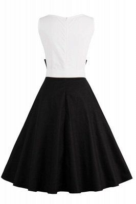 Ronni | Vintage A Line Two-toned 1950s Dress with Bow_21