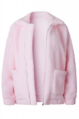Going out Basic Regular Faux Fur Coat| Solid Colored Stand Long Sleeve Faux Fur White / Brown / Black_2