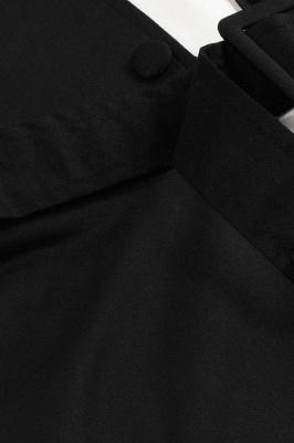 Vestido blanco y negro con cuello redondo y manga esencial de cuello redondo_8