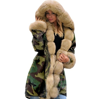 Electric Army Green Faux Fur Chubby Jacket | Superstar Faux Fur Coat in Burgundy/Black/Gray Shawl Collar_30