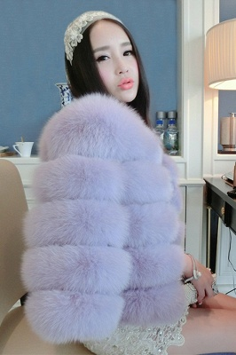 Women's Daily/Party Long Faux Fur Coat | Solid White/Pink/Ruby/Burgundy Colored Round Neck Long Sleeve Faux Fur Overcoat_39