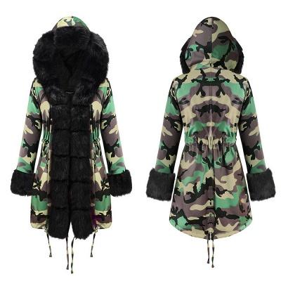 Electric Army Green Faux Fur Chubby Jacket | Superstar Faux Fur Coat in Burgundy/Black/Gray Shawl Collar_16