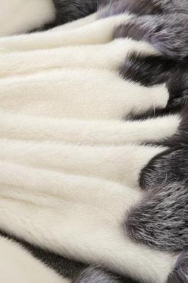 Abrigo con capucha de media longitud negro / blanco de piel sintética | Chaqueta de piel sintética con cuello chal artificial islandés_15