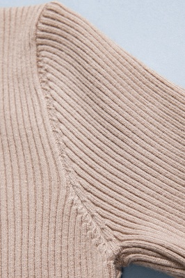 Fitted Top in a fine-knit viscose blend   Long Sleeves Round Neckline Sweater_12