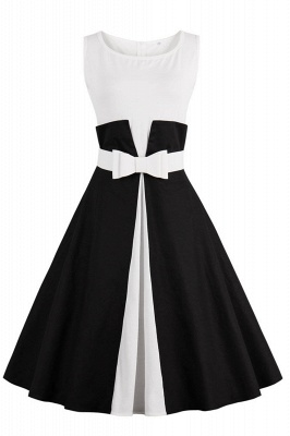 Ronni | Vintage A Line Two-toned 1950s Dress with Bow_6