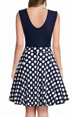 Sleeveless Sexy V-neck A-line Dress with Floral Skirt | Clearance Sale & Free Shipping_16