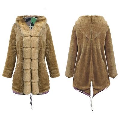 Electric Army Green Faux Fur Chubby Jacket | Superstar Faux Fur Coat in Burgundy/Black/Gray Shawl Collar_12
