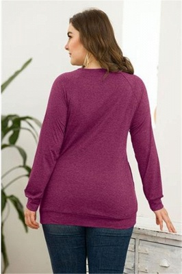 Long Sleeves Button Pullover Plu Size Shirts with Pockets_2