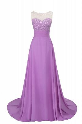 Purple Elegant SLNY Rhinestone Embellished  Backless Pleats Long Evening Dress_3