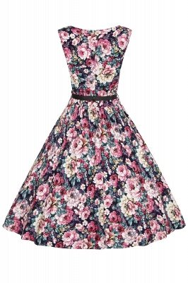Robbie Bee | Sleeveless Drop Waist Floral Print Dress | Clearance Sale & Free Shipping