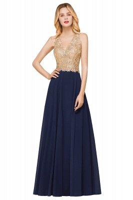 Великолепное бордовое вечернее платье без рукавов с v-образным вырезом | Дешевое Формальное Платье_5