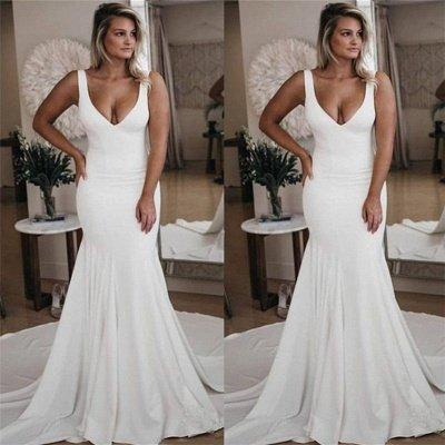 Schlichtes Brautkleid Meerjungfrau | Hochzeitskleider Günstig Online Kaufen_2