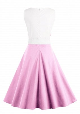 Ronni | Vintage A Line Two-toned 1950s Dress with Bow_18