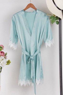 Lace Bridal Robe / Bridesmaid Robes / Robe / Bridal Robe / Bride Robe / Bridal Party Robes / Bridesmaid Gifts / Satin Robe_7