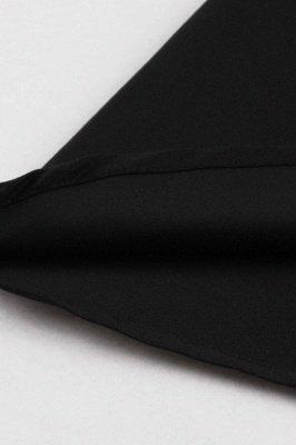 Черное и белое платье с круглым вырезом и круглым вырезом_9