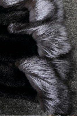 Manteau mi-long à capuche en fausse fourrure noir / blanc | Veste en fausse fourrure à col châle artificiel islandais_11