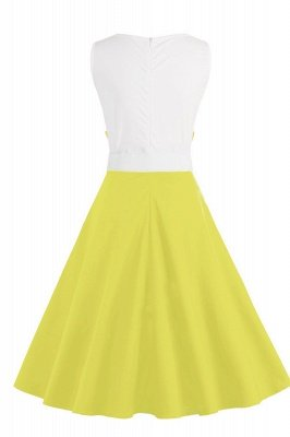 Ronni | Vintage A Line Two-toned 1950s Dress with Bow_25