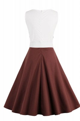Ronni | Vintage A Line Two-toned 1950s Dress with Bow_35