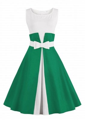 Ronni | Vintage A Line Two-toned 1950s Dress with Bow_7