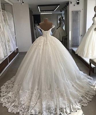 Schulterfreie Ballkleider aus Spitze | Formale Brautkleider aus Tüll_2