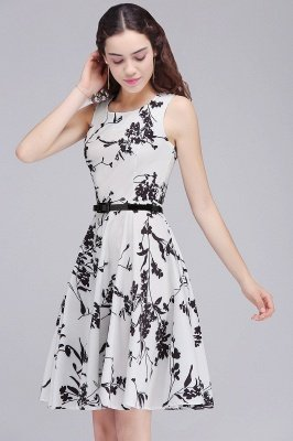 Sleeveless Printed Fit and Flare Dress Clearance Sale & Free Shipping