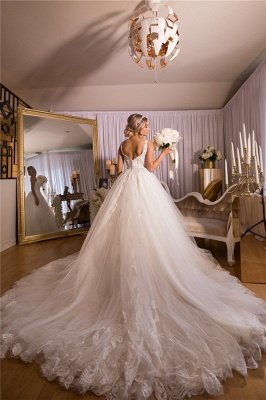 A-line Lace Ball Gown Wedding Dresses | Gorgeous Bridal Gowns