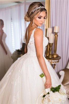 A-line Lace Ball Gown Wedding Dresses | Gorgeous Bridal Gowns_2