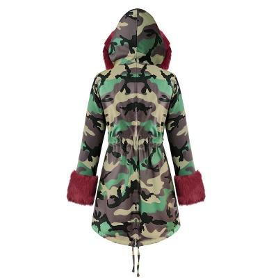 Electric Army Green Faux Fur Chubby Jacket | Superstar Faux Fur Coat in Burgundy/Black/Gray Shawl Collar_32