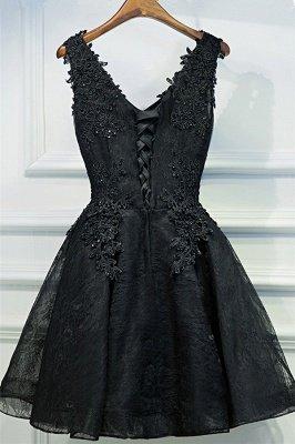 Кружева аппликации дешевое платье возвращения домой Сексуальные маленькие черные платья_3