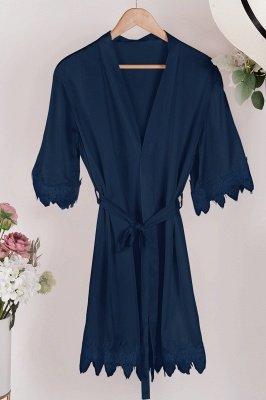 Lace Bridal Robe / Bridesmaid Robes / Robe / Bridal Robe / Bride Robe / Bridal Party Robes / Bridesmaid Gifts / Satin Robe_23
