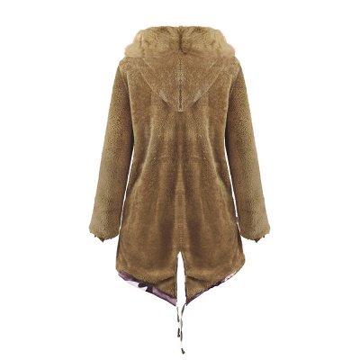 Electric Army Green Faux Fur Chubby Jacket | Superstar Faux Fur Coat in Burgundy/Black/Gray Shawl Collar_39
