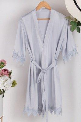 Lace Bridal Robe / Bridesmaid Robes / Robe / Bridal Robe / Bride Robe / Bridal Party Robes / Bridesmaid Gifts / Satin Robe_8