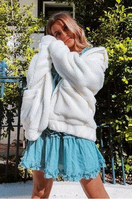 Going out Basic Regular Faux Fur Coat| Solid Colored Stand Long Sleeve Faux Fur White / Brown / Black_12