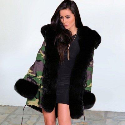 Electric Army Green Faux Fur Chubby Jacket | Superstar Faux Fur Coat in Burgundy/Black/Gray Shawl Collar_8