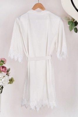 Lace Bridal Robe / Bridesmaid Robes / Robe / Bridal Robe / Bride Robe / Bridal Party Robes / Bridesmaid Gifts / Satin Robe_11