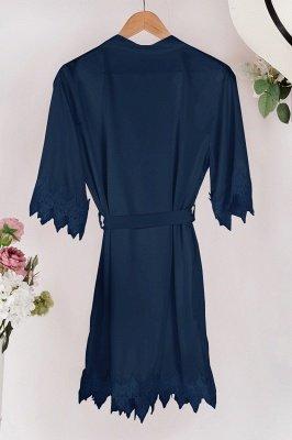 Lace Bridal Robe / Bridesmaid Robes / Robe / Bridal Robe / Bride Robe / Bridal Party Robes / Bridesmaid Gifts / Satin Robe_6