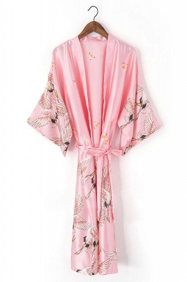 Eartha | Non-personalized Hot Women robe Silk Satin Robes Wedding Bridesmaid Bride Gown kimono Solid robe_6