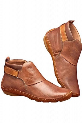 Casual Comfy Daily Wear Adjustable Soft Leather Boots on Sale_8