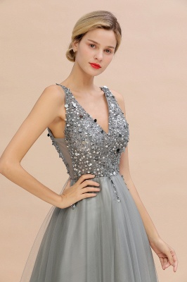Abina | Sexy V-neck Sparkly Beaded Low Back Prom Dress with Gemstones_15