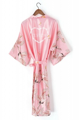 Earla | Personalized Satin Solid Lace Robe Satin Bridesmaid Robes Bride Robe Bridal Party Robes