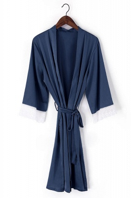 Duke | Non-personalized Silk Satin Floral bridesmaid robes gowns bride bath robe wedding kimono robes_2