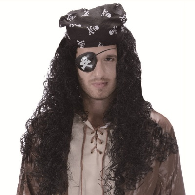 Halloween Cosplay Synthetic Easy Quick Pirate Hat Wig