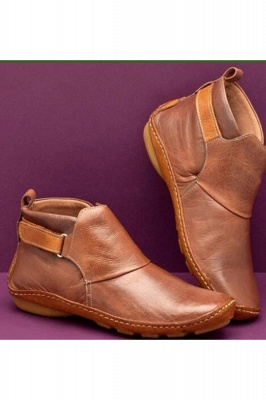 Casual Comfy Daily Wear Adjustable Soft Leather Boots on Sale_2