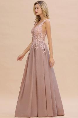 Rebacca | A-Line V-neck Floor-Length Tulle Sequined Prom Dresses_13
