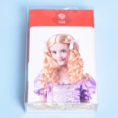 Fashion Blonde Movie Girls Curly Wig for Kids_3