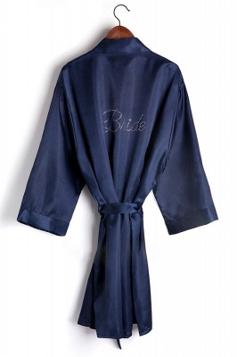 Drover | Personalized Rhinestone Silk Satin Bridal Wedding Bridesmaid Kimono Dressing Gown Robe_6