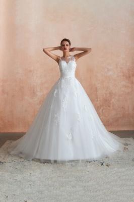 قابيل | الوهم العنق فستان الزفاف الأبيض مع يزين الدانتيل exqusite ، بلا أكمام الخامس عودة أثواب الزفاف رخيصة على الانترنت_12