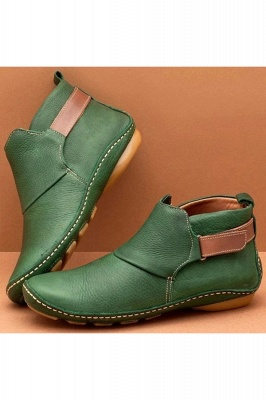 Casual Comfy Daily Wear Adjustable Soft Leather Boots on Sale_5